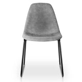 Artiss Set of 2 PU Leather Dining Chairs - Grey - b-organized