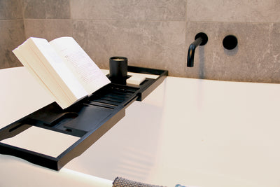 Butlers Banyan Black Bath Caddy - Perfect to relax with your favourite wine on hand - b-organized