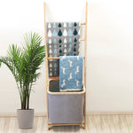 Banyan Bamboo Towel Ladder Rack & Laundry Hamper – Perfect For Bathroom Organisation! - b-organized