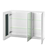 Cefito Bathroom Vanity Mirror with Storage Cabinet - White - b-organized