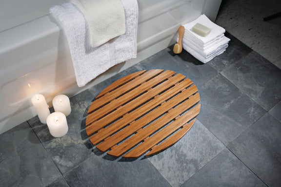 Umbra Banu Bath Mat - Great For Bathroom Décor and Practicality - b-organized