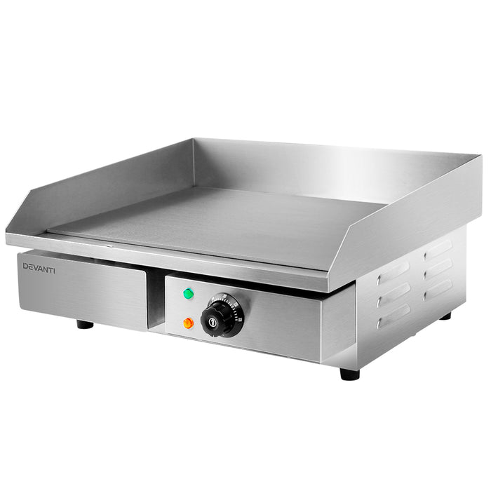 Devanti 3000W Electric Griddle Hot Plate - Stainless Steel - b-organized