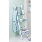 Interdesign Formbu Bathroom Ladder Storage  White - Great For Storing Towels And Accessories - b-organized