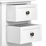 Bedside Table French Provincial Lamp Cabinet 2 Drawers White - b-organized