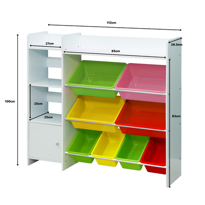 Kids Bookshelf and Toy Storage Organiser - b-organized