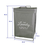 Urban line Laundry Hamper X Frame  Coal - Stylish And Functional By A Trusted Brand - b-organized