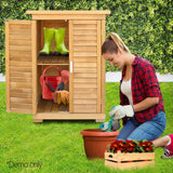 Gardeon Portable Wooden Garden Storage Cabinet - b-organized