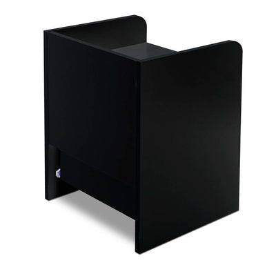 Artiss Bedside Table Drawer - Black - b-organized