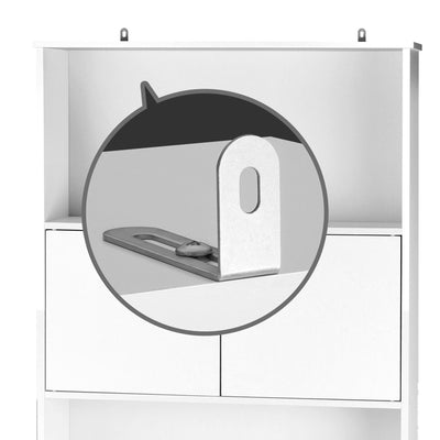 Artiss Bathroom Storage Cabinet - White - b-organized