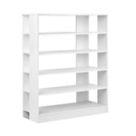 Artiss 6-Tier Shoe Rack Cabinet - White - b-organized