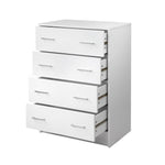 Artiss Tallboy 4 Drawers Storage Cabinet - White - b-organized