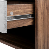 Artiss Bedside Table with Drawer - Grey & Walnut - b-organized