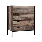 Artiss Chest of Drawers Tallboy Dresser Storage Cabinet Industrial Rustic - b-organized