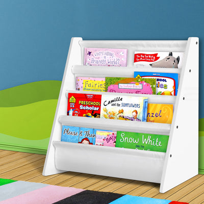 Artiss Kids Bookshelf - White - b-organized
