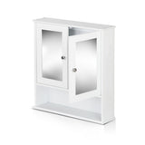 Artiss Bathroom Tallboy Storage Cabinet with Mirror - White - b-organized