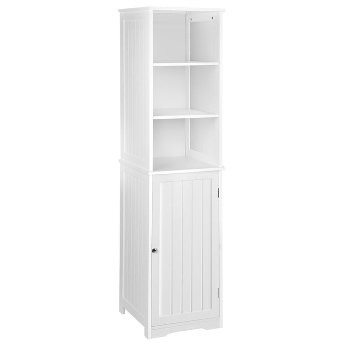 Artiss Bathroom Tallboy Storage Cabinet - White - b-organized