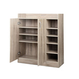 Artiss 2 Doors Shoe Cabinet Storage Cupboard - Wood - b-organized