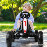 RIGO Kids Pedal Go Kart Car Ride On Toys Racing Bike - b-organized
