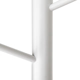 Artiss Wooden Clothes Stand with 6 Hooks - White - b-organized