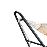 Gardeon Hammock Bed with Steel Frame Stand - Cream - b-organized