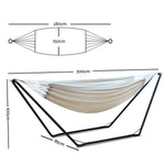 Gardeon Hammock Bed with Steel Frame Stand - b-organized