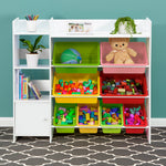 Kids Bookshelf and Toy Storage Organiser