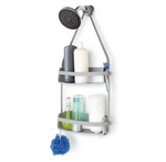 Umbra Flex Shower Caddy Grey - Sturdy & Light For Your Bathroom - b-organized