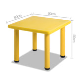 Keezi Kids Table Study Desk Children Furniture Plastic Yellow - b-organized