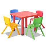 Keezi 5 Piece Kids Table and Chair Set - Red - b-organized