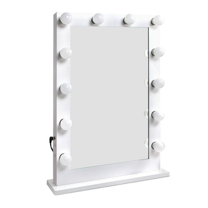 Embellir Make Up Mirror with LED Lights - White - b-organized