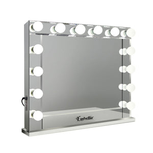 Embellir Make Up Mirror with LED Lights - Silver