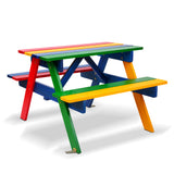 Keezi Kids Wooden Picnic Bench Set - b-organized