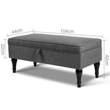 Artiss Fabric Storage Ottoman - Grey