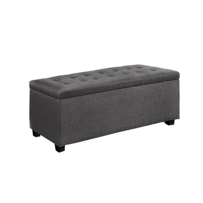 Artiss Large Fabric Storage Ottoman - Grey - b-organized