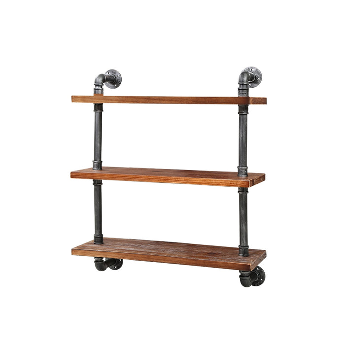Artiss Industrial Shelves DIY Pipe Shelf Display Wall Floating Bookshelf Vintage 3 Tiers - b-organized