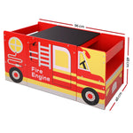 Keezi Kids Fire Truck Table & Chair Set - b-organized