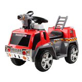 Rigo Kids Ride On Fire Truck Motorbike Motorcycle Car Red Grey - b-organized