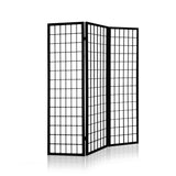 Artiss 3 Panel Wooden Room Divider - Black