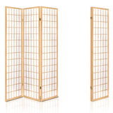 Artiss 3 Panel Wooden Room Divider - Natural - b-organized