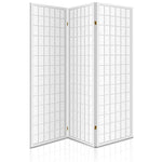 Artiss 3 Panel Wooden Room Divider - White - b-organized