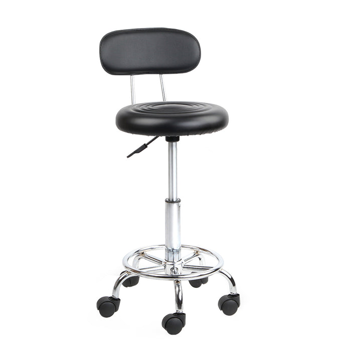 Artiss PU Leather Swivel Chair with Backrest - Black - b-organized