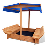 Keezi Wooden Outdoor Sand Box Set Sand Pit- Natural Wood - b-organized