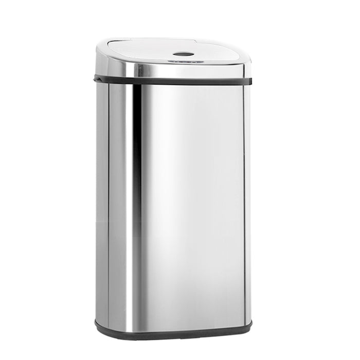 50L Stainless Steel Motion Sensor Rubbish Bin - b-organized