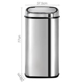 68L Stainless Steel Motion Sensor Rubbish Bin - b-organized