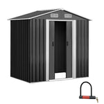Giantz 1.25 x 1.95m Steel Garden Shed - Grey - b-organized