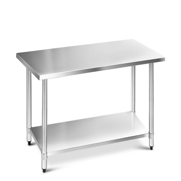 Cefito 1219 x 610mm Commercial Stainless Steel Kitchen Bench - b-organized
