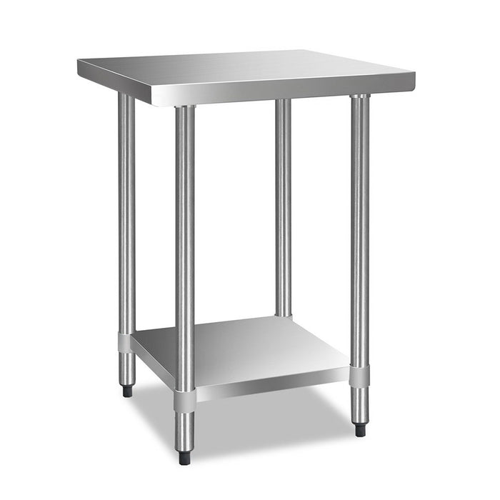 Cefito 610 x 610m Commercial Stainless Steel Kitchen Bench - b-organized