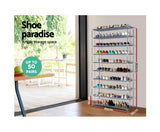 10 Tier Stackable Shoe Rack - b-organized