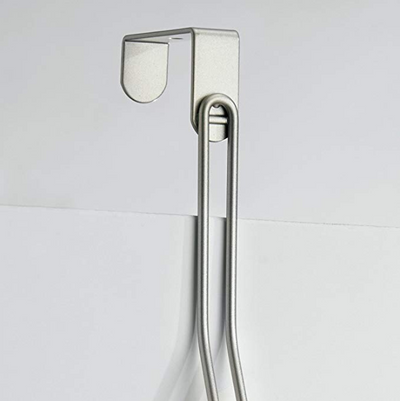Interdesign Over The Door Towel Rack  -  Great For Hanging Wet Bath Towel in Small Spaces - b-organized