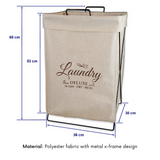 Urban line Laundry Hamper X Frame  Natural - Stylish And Functional - b-organized